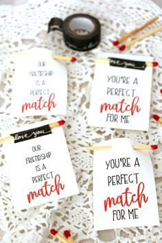 perfect match printable valentine tags for your candles! Valentine Crafts For Kids, Love Valentines, Valentine Day Gifts, Pink Crafts, Mason Jar Crafts, Easy Gifts, Perfect Match, Gift Tags, Party