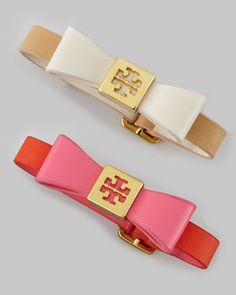 Leather Bow Bracelet by Tory Burch at Neiman Marcus.