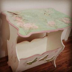 Özgece gazetelik Decoupage, Repurposed, Stool, Scrap, Cottage, Simple, Diy, Accessories, Furniture