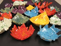 Leaf Bowls. Ok, so this is a 4th grade art project, but I think its really cool. I just need a kiln...