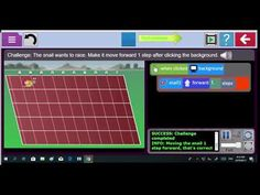 The 'background' of this lesson -builds on the learner experience around: basic movement using the mouse -to drag code blocks. Code Blocks, Background S, Snail, Challenges, Coding, Purple, How To Make, Slug, Viola