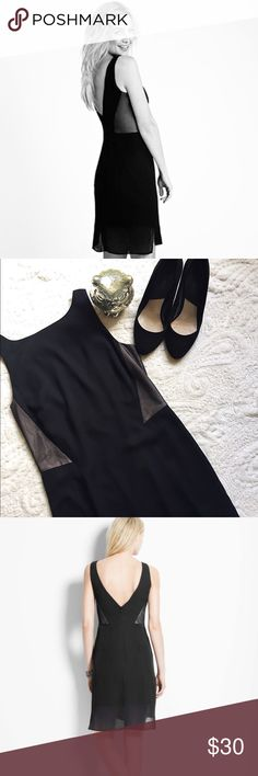 """Kate Hudson For Ann Taylor Collection LBD This dress is insanely cute! The perfect little black dress  with some great detailing. Lightweight Silk like material with a soft lining and mesh side panels. Back panel is cut low with a zip closure. Length measures 36"""". Item is in like new condition. Tag attached but details have been removed as this was a gift. Ann Taylor Dresses"""