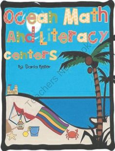 Ocean Math and Literacy Centers from Kellers Kindergarten on TeachersNotebook.com (41 pages)