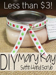 DIY Mary Kay Satin Hand Scrub. @Gina de Villiers Acosta this is the one I've made before that awesome!