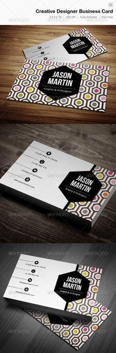 Creative Designer Business Card - 03 #GraphicRiver Business card – perfect for any business/personal. Features. 300 DPI CMYK Print Ready! - Full Editable, Layered you can find fonts here: Open sans – .google /webfonts/specimen/Open+Sans Bebas Nueu – .dafont /bebas-neue.font please dont forget to rate it.