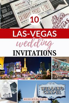 Most brides getting married in Las Vegas or who are having a Las Vegas themed wedding, don't want the traditional wedding, and they also don't want a traditional invitation. Check out these 10 awesome Las Vega themed invitations suite. From ticket invitation style, Las Vegas welcome sign printed on the invite, casino, cards, and vintage style