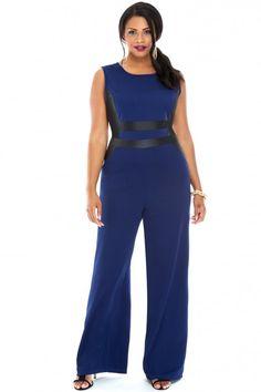 Plus Size Lolita Techno Crepe Jumpsuit | Fashion To Figure