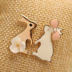 Pair of Trendy Rabbit Shape Earrings For Women-4.47 and Free Shipping| GearBest.com