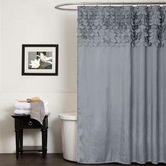 @Overstock.com   Lush Decor Lillian Grey Shower Curtain   This Lillian Shower  Curtain