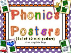 phonics posters to help teach those tricky sounds!