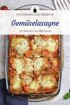 Ein leckeres Rezept für eine vegatarische Gemüselasagne, die der Lasagne ordentlich Konkurrenz macht. Weitere Rezpte findest Du auf www.kitchensplace.de Chicken, Recipes, Food, Knitted Baby, Bebe, Vegetarian Lasagne, Savory Foods, Meat, Kochen