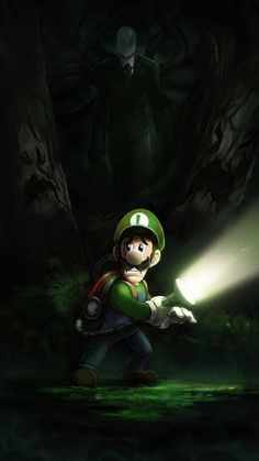 in the dark Id love to see them in the same video game :) ! Super Mario And Luigi, Super Mario Art, Super Mario World, Super Smash Bros, Castlevania Wallpaper, Game Mario Bros, Luigi's Mansion 3, Mario Tattoo, Arte Do Harry Potter