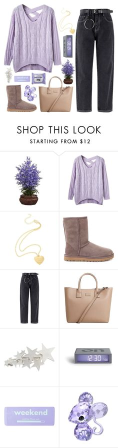 """Just Cause I Said It Don't Mean I Meant It"" by sugarplumfairy98 ❤ liked on Polyvore featuring Nearly Natural, UGG, MANGO, claire's, Swarovski and spf98fashion"