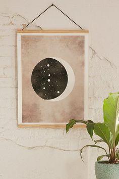Claire Goodchild Moon & Stars Cancer Art Print