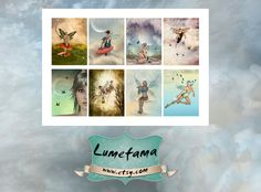Fairy  Digital Printable Download Scrapbooking paper por Lumefama