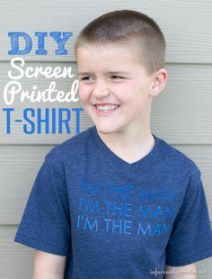 i'm the man screenprinted tshirt