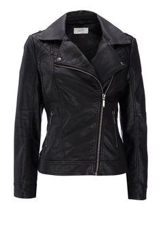 Black Petite Biker Jacket