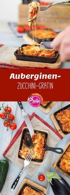 Für die Vegetarier unter uns: Auberginen-Zucchini-Gratin!