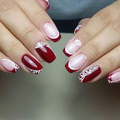 I plan on having red on my wedding dress when that day comes... This would be a beautiful manicure to match!