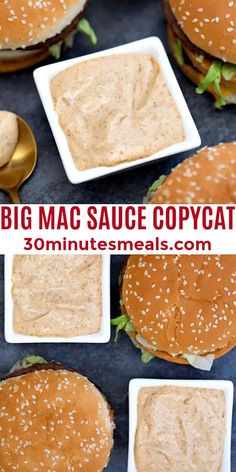 Big Mac Sauce is creamy, tangy, sweet, and savory at the same time! #bigmacsauce #copycat #sauce #appetizer #30minutesmeals