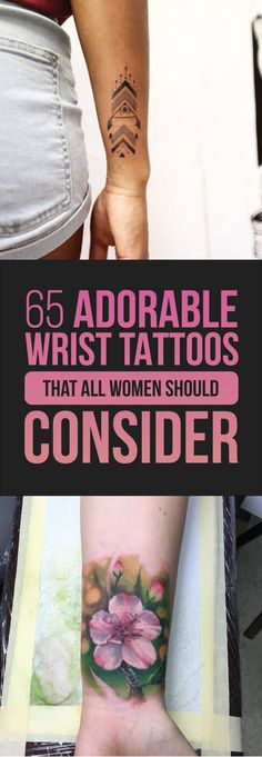 65 Adorable Wrist Tattoos All Women Should Consider | TattooBlend