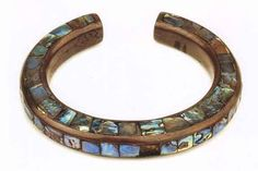"""*Tlingit copper and abalone bracelet, prior to 1896. From """"Totems to Turquoise"""" by Chalker. Native American jewelry. ♥ Love this"""