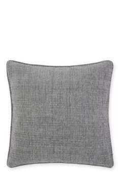 Silver Textured Chenille Cushion