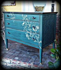 Distressed Antique dresser shabby chic dresser by RepurposedbyM