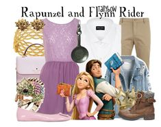 """""""Rapunzel and Flynn Rider"""" by tallybow ❤ liked on Polyvore featuring Lacoste, Roberto Coin, Kate Spade, Glamorous, Hermès, Giorgio Armani, Roger Vivier, Disney, Disney Couture and Steve Madden"""