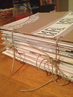 Great idea for all the cards I have!! For wedding cards: top with wedding bulletin.