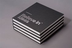 Clean, minimal Sketch books _ by Believe In, an English design and branding company _