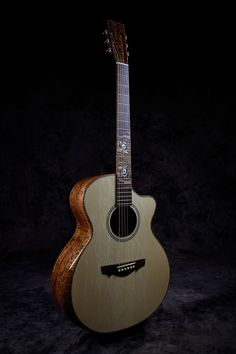 """""""The Tiger"""" a Grand Session model by Driftwood Guitars Guitar Building, Ukulele, Acoustic, Music Instruments, Driftwood, Guitars, Model, Musical Instruments"""