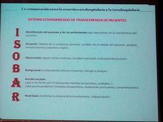ISOBAR. Sistema estandarizado de transferencia de pacientes