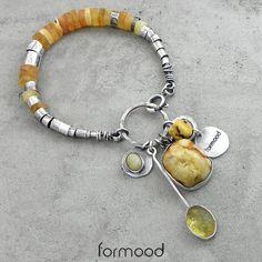 spin - bransoletka z bursztynem Biżuteria Bransolety formood