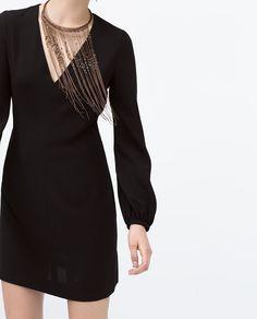 Image 2 of LONG BALLON SLEEVE DRESS from Zara