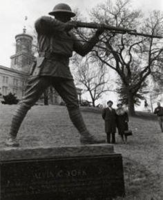 1968; Felix De Welten and Gracie York at the York Memorial in Nashville