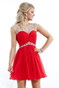 red grade 8 grad dresses - Google Search