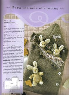 saco bebe Baby Knitting, Christmas Stockings, Reusable Tote Bags, Holiday Decor, Crafts, Craft Ideas, Fashion, Little Cotton Rabbits, Knitting Needles