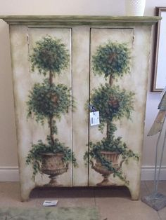 Hand-Painted Topiary Hutch 40″ x 14.4″ x 53″ CP Location: Aurora Categories: Featured $1,531.50 + tax Item #: 14186