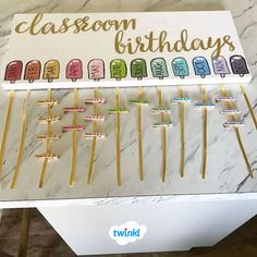 Ideas Birthday Presents For Teachers Simple For 2019 Birthday Display In Classroom, Year 1 Classroom, Classroom Displays, Toddler Classroom Decorations, Future Classroom, Classroom Ideas, Classroom Organisation Primary, Teacher Organisation, Birthday Charts