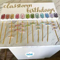 Ideas Birthday Presents For Teachers Simple For 2019 Birthday Display In Classroom, Year 1 Classroom, Classroom Displays, Toddler Classroom Decorations, Classroom Organisation Primary, Teacher Organisation, Birthday Charts, Free Birthday, Birthday Month