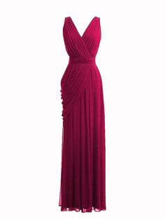 V-neck Pleated Dress $134.99