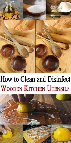 How to Clean and Disinfect Wooden Kitchen Utensils - Cleaning Hacks Deep Cleaning Tips, House Cleaning Tips, Spring Cleaning, Cleaning Hacks, Diy Hacks, Cleaning Schedules, Homemade Toilet Cleaner, Clean Baking Pans, Oven Canning