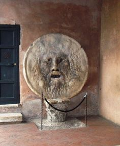 The Mouth of Truth. Rome The Mouth of Truth, Starting from the Middle Ages, it was believed that if one told a lie with one's hand in the mouth of the sculpture, it would be bitten off. The Mouth of Truth is located in the portico of the church of Santa Maria in Cosmedin in Rome, Italy