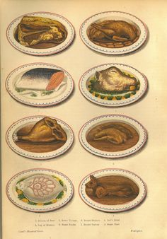 Victorian era food, from Cassell's Household Guide, ca. 1880