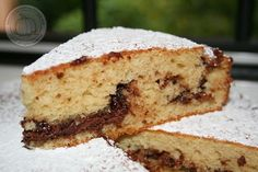 Torta morbida con Philadelphia e Nutella. Anche se non molto fotogenica questa torta è buonissima!