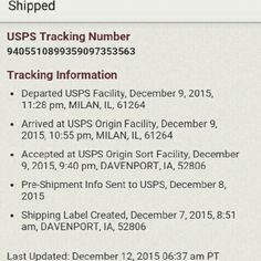 SHIPPING INFO FOR @resell Shipping info for @resell I'm so sorry , its not that I wait a long time to ship, most of my outgoing & 3 of my incoming packages sit in IL at USPS for ever ? Again I'm so very sorry for the delay Other