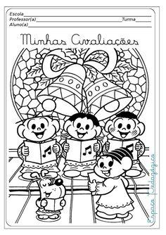 Jardim da Tia Di♥: Capas de provas prontas para o Natal com a Turma da Mônica!