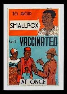 Smallpox vaccination poster from Nigeria
