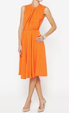 Roksanda Ilincic Fluorescent Orange And Pink Dress